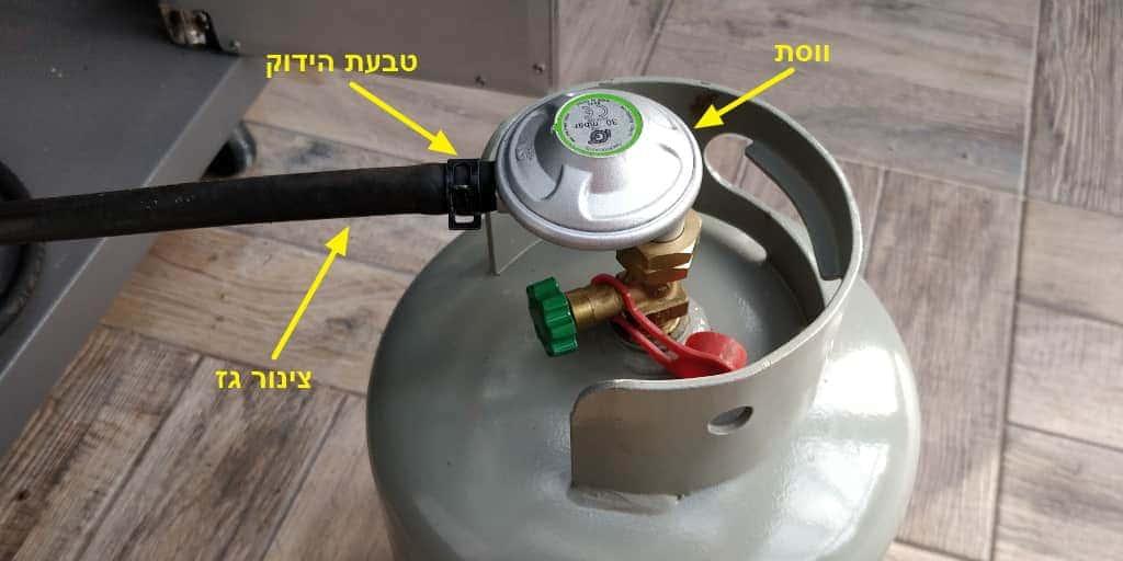 איך בודקים אם בלון גז דולף