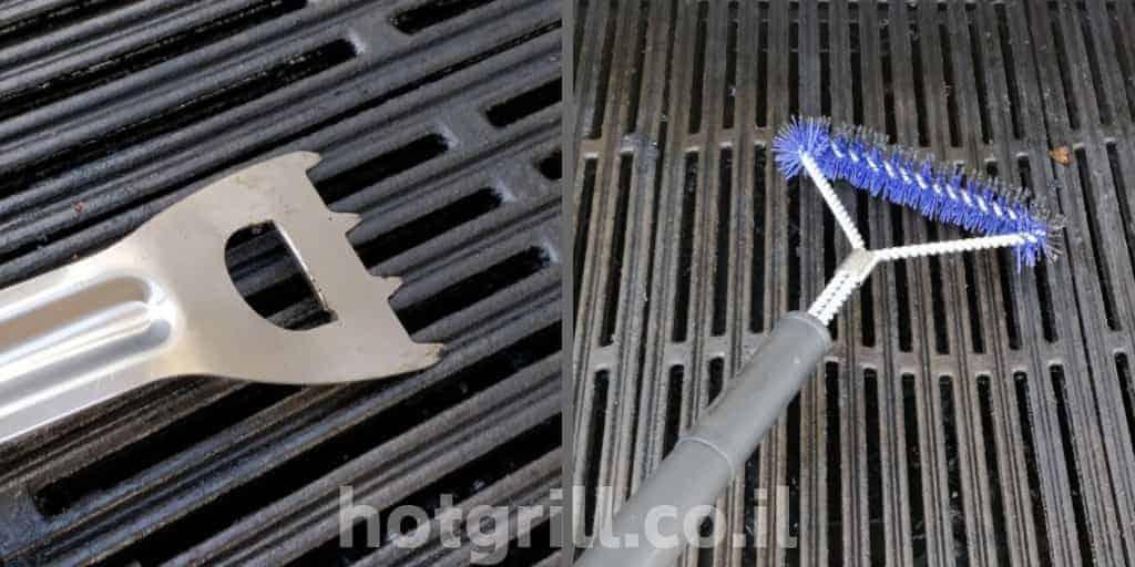 כלים לניקוי רשתות גריל גז