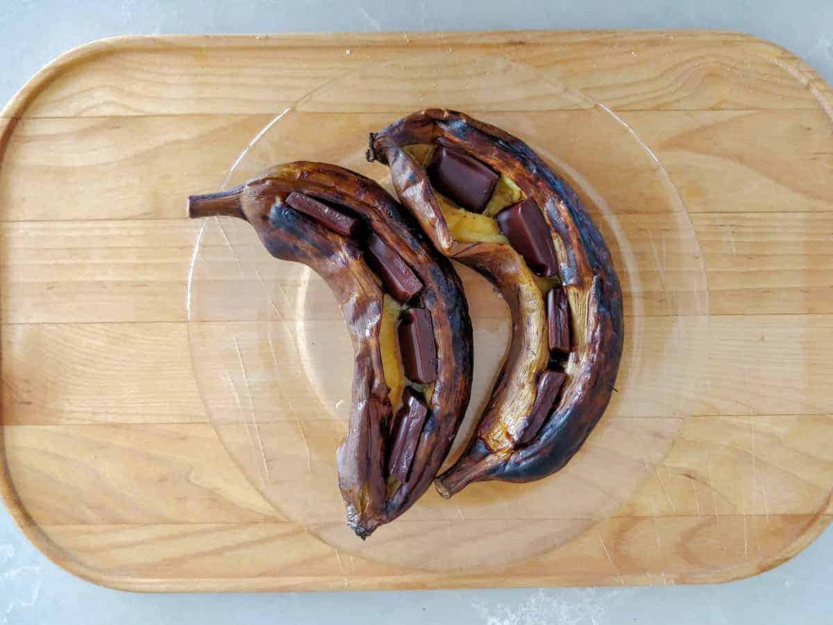 בננות על האש עם שוקולד