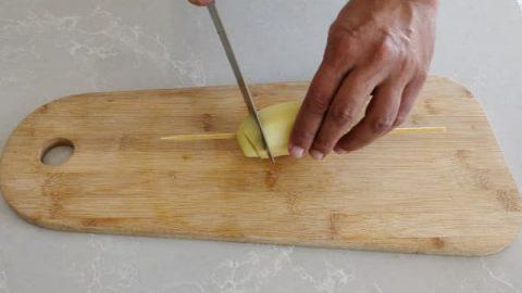 חיתוך תפוח אדמה ספירלה